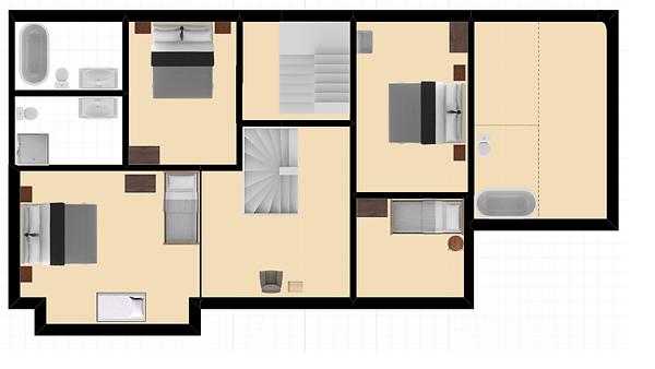 Eerste verdieping vakantiewoning