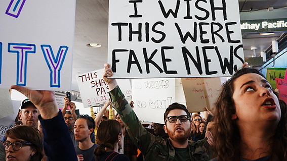 Protester efter det amerikanska presidentvalet 2016. Fotocred: Kayla Velasquez