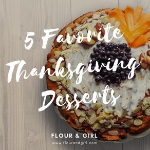 5 Favorite Thanksgiving Desserts