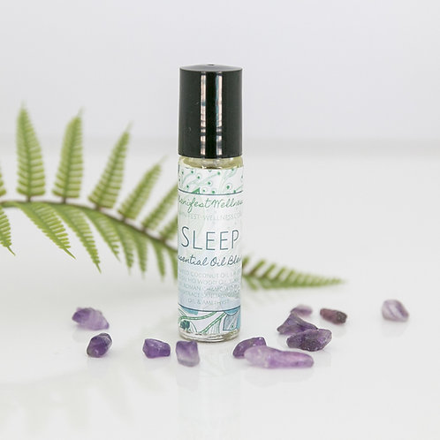 Sleep Essential Oil Blend with Amethyst Gemstones