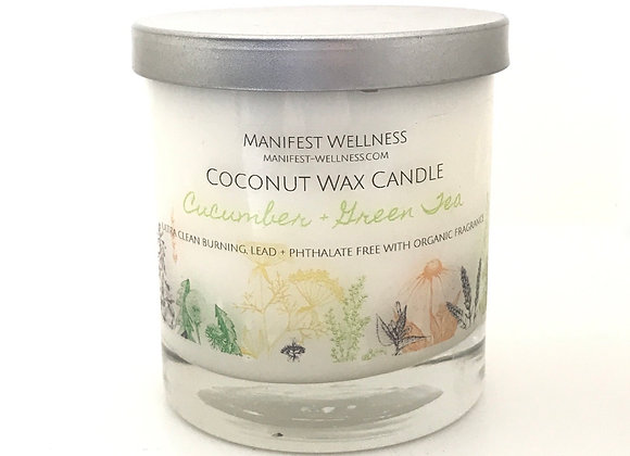 Cucumber Green Tea Coconut Wax Candle