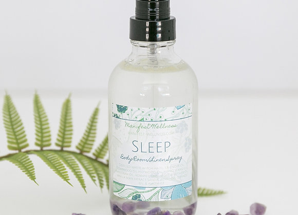 Sleep Aromatherapy Essential Oil Blend + Amethyst Infused Body / Linen Spray