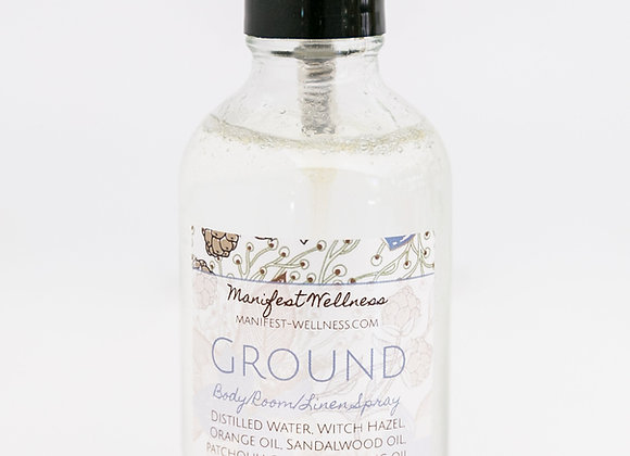 Ground Essential Oil + Gemstone Infused Body/Room/Linen Spray