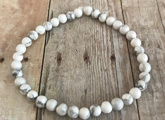 Howlite Crystal Mini Gemstone Bracelet