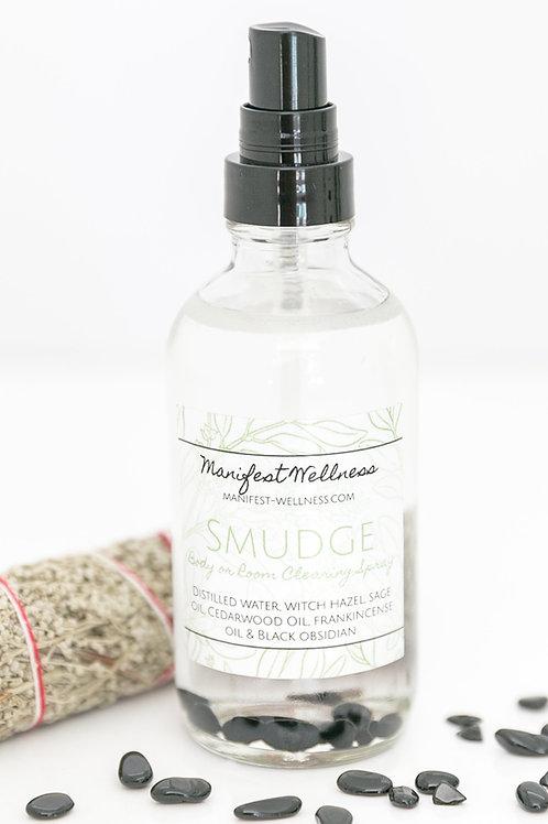 Smudge Spray Essential Oil + Gemstone Body/Room/Linen Spray