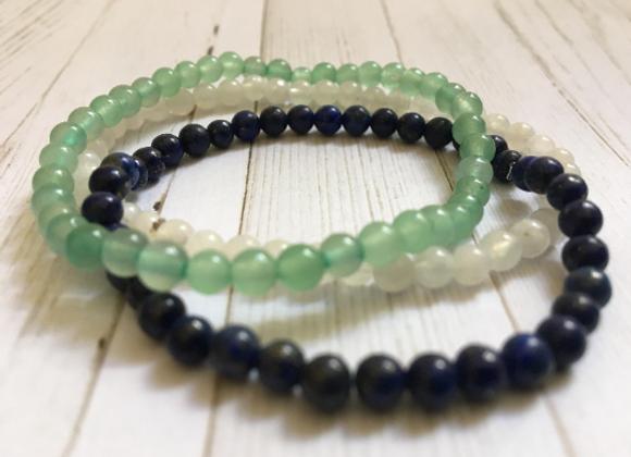 Gemstone Mini Bracelet Stack Clarity