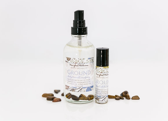 Ground Blend Gift Set Essential Oil Blend + Body/Room Linen Spray