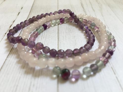 Mini Gemstone Bracelet Stack Harmony