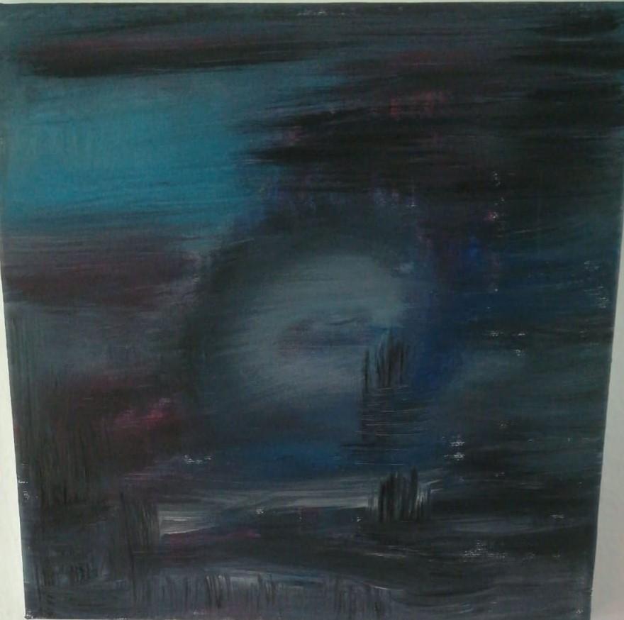 Abstrakt dunkelblau