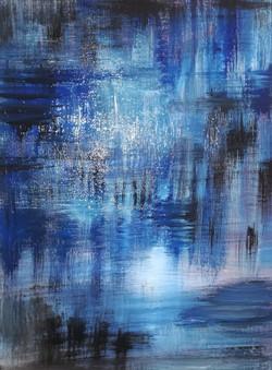 Abstrakt blau