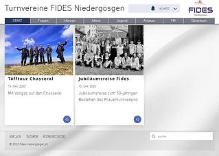 Neue Fides Webseite