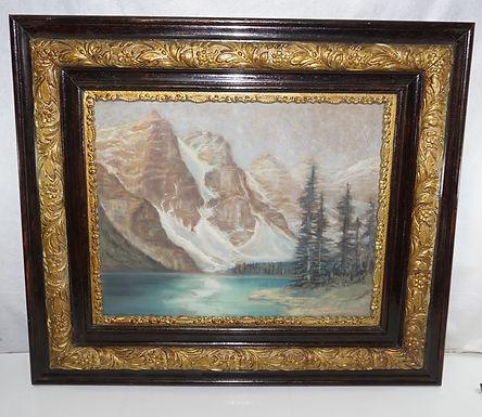 Mountain Scene Framed Oil Painting