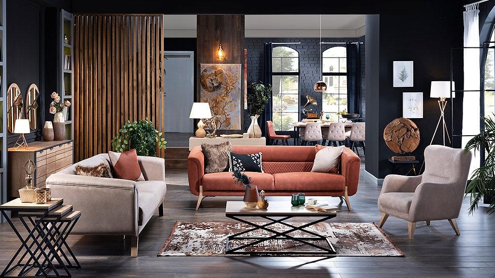 Indigo Sofa Set