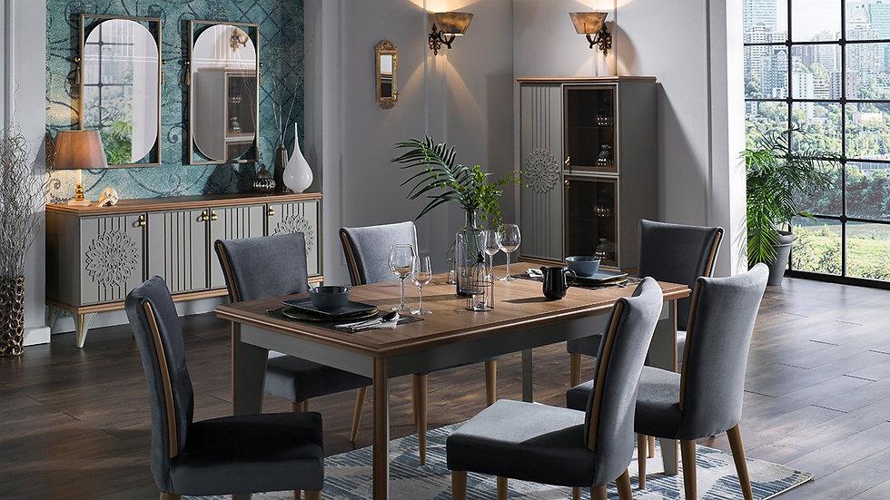 Luis Dining Room Set - Grey