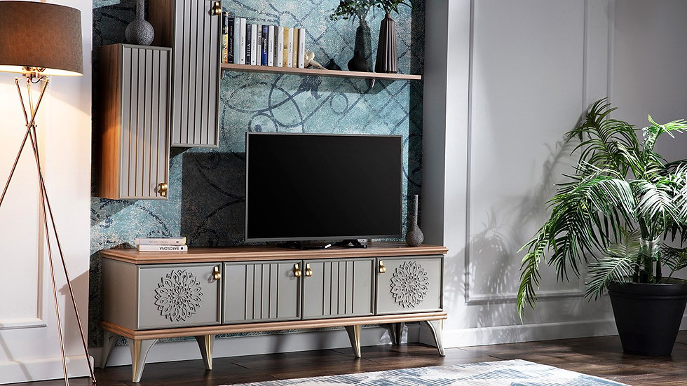 Luis Compact Tv Stand - Grey