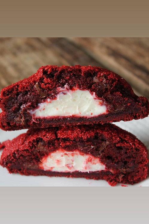 Stuffed Red Velvet Cookie