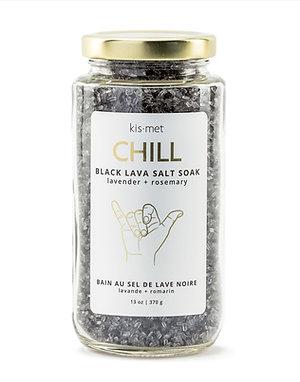 Black Lava Salt Soak - Lavender + Rosemary