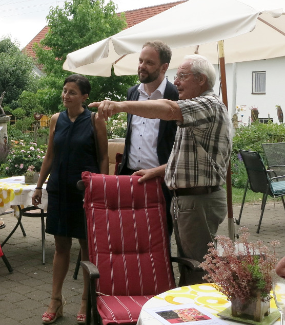 OB Tobias Eschenbacher mit Gattin