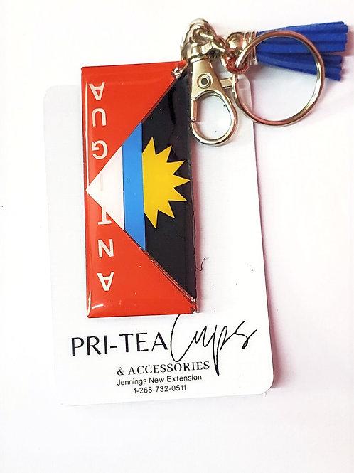 Antigua Flag Keychain