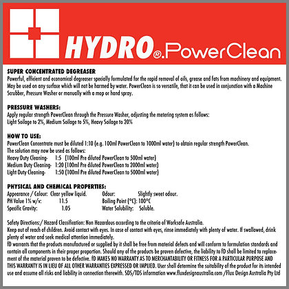 HYDRO PowerClean disinfectant Concentrate Degreaser