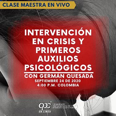 INTERVENCION EN CRISIS  Y PRIMEROS AUXIL