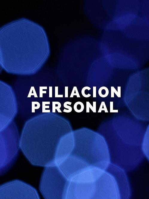 Afiliación Personal