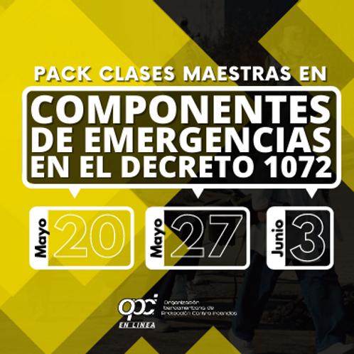 Pack Componentes de Emergencias en el Decreto 1072