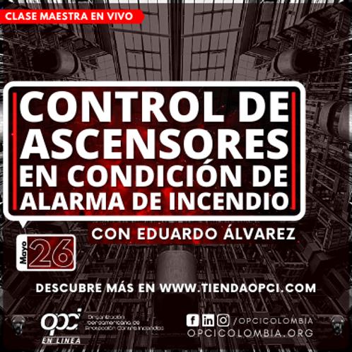 Control de ascensores en condición de alarma de incendio