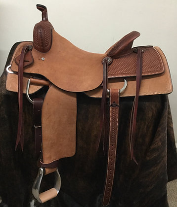 "15.5"" Diamond K Saddlery Hardseat Cowhorse Saddle"