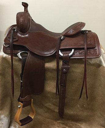"""16"""" Diamond K Saddlery Elite Working Cowhorse Saddle"""