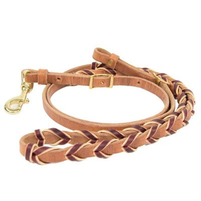 Leather Braided Reins