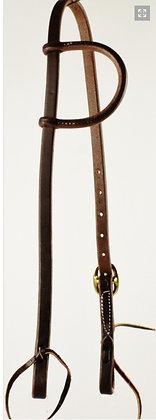 Oiled Harness Leather Single Ear Headstall