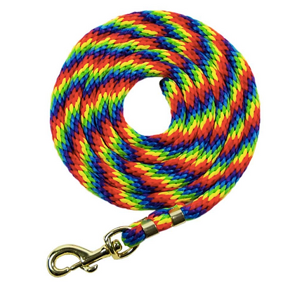 9' Rainbow Poly Lead Rope with Snap