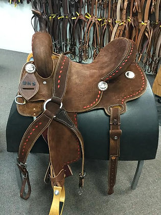 ELITE Barrel Saddle Round Skirt Breast Collar Included