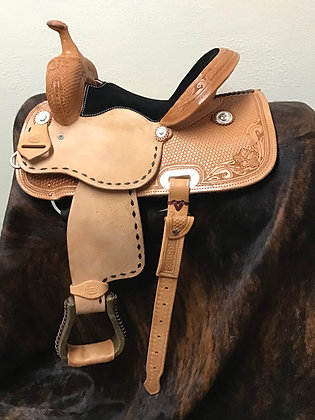Diamond K Saddlery Barrel Saddle