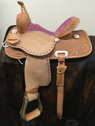 "Diamond K Saddlery 13"" Youth Barrel Saddle"