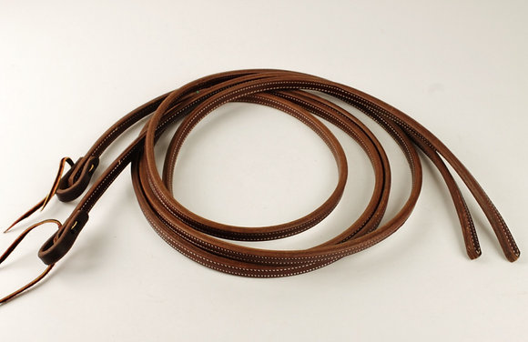 "5/8"" Double Stitched Heavy Oiled Harness Split Reins"