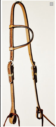 One Ear Headstall with Rawhide Keepers
