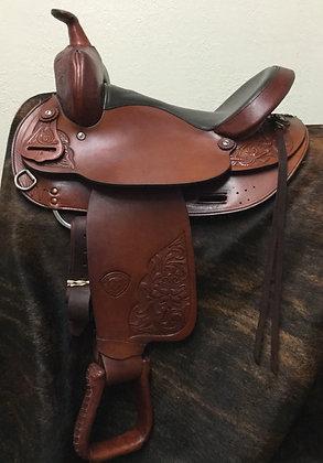 """Used 14.5"""" Hereford Brand Tex Tan of Yoakum Trail Saddle"""
