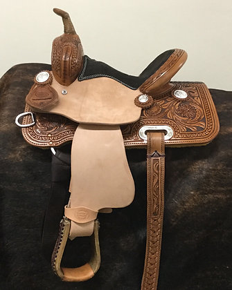 "10"" Diamond K Saddlery Barrel Saddle"