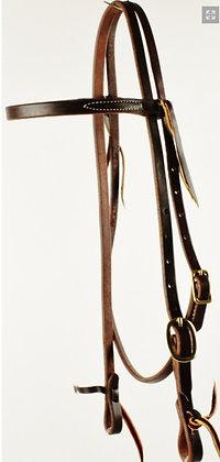 "5/8"" Oiled Harness Browband Heastall"