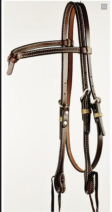Browband Headstall with Futurity Knot and Rawhide Keepers