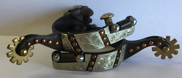 Youth Spurs with Antiqued Silver and Dots