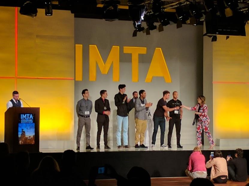 Brian accepting his award