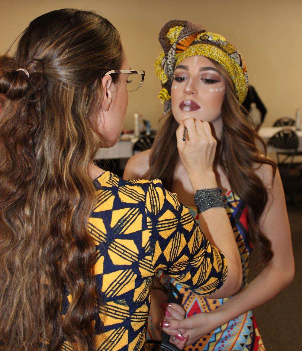 Christina on makeup with Hailey