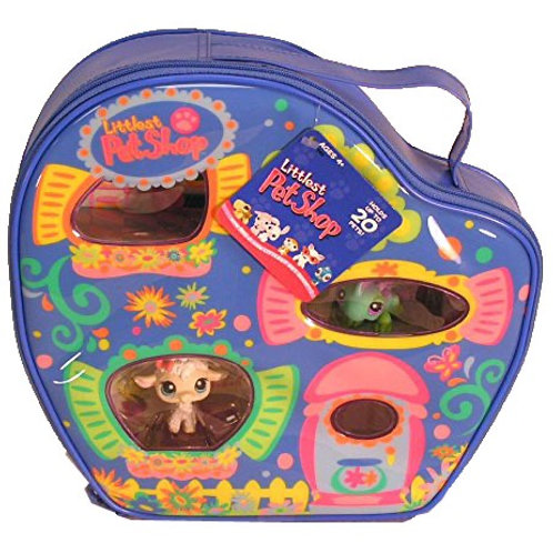 Littlest Pet Shop Carry Case: with Lamb and Iguana #376