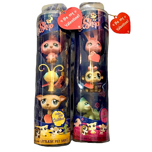 Littlest Pet Shop Valentines Tubes 3-Pack (Walmart Exclusive)