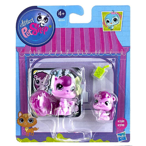 Littlest Pet Shop Mom & Baby Squirrel (NIB)