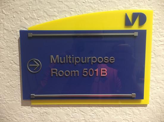 Custom acrylic directional sign