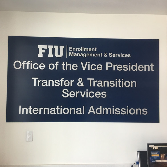 FIU office of the vice president sign.jp